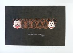 Mickey to Tiki (Reversed) by Dick Frizzell for Sale - New Zealand Art Prints