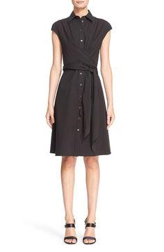 Michael Kors Stretch Cotton Wrap Dress