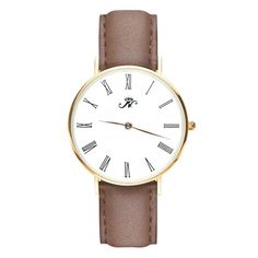 Sherbourne - Gold Timepiece with Brown Leather – Joseph Nogucci