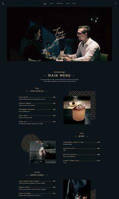 Website Menu Design, Restaurant Website Design, Restaurant Themes, Website Design Inspiration, Web Design Examples, Modern Web Design, Mise En Page Web, Layout Online, Food Web Design