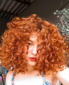 Curly Hair Care, Short Curly Hair, Wavy Hair, Dyed Hair, Curly Hair Styles, Ginger Hair Color, Beautiful Red Hair, Colored Curly Hair, Pretty Hairstyles