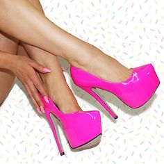 Barbie Shoes. Yay or nay? #hotpink #heels