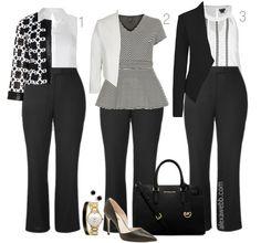 Plus Size Work Outfit Ideas - Plus Size Fashion for Women - Alexawebb.com #alexawebb #plus #size
