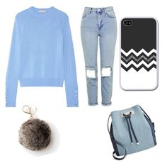 """""""blueee"""" by datgurldoe ❤ liked on Polyvore featuring INC International Concepts, Michael Kors, Topshop and Mudd"""