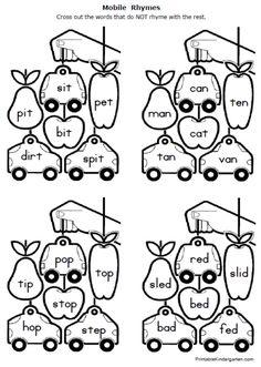 Printable+Kindergarten+Rhyming+Worksheets