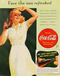 52 Superb Vintage Coca-Cola Ads (Part Coke Ad, Coca Cola Ad, World Of Coca Cola, Pepsi, Vintage Coke, Vintage Party, Facing The Sun, Vintage Classics, Cartoon Tv Shows