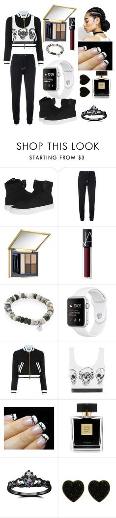 """Let's get ugly"" by angel60563 ❤ liked on Polyvore featuring Supra, Zoe Karssen, Estée Lauder, NARS Cosmetics, Sydney Evan, Moschino, Barbed, Avon, Fidelity and Miso"