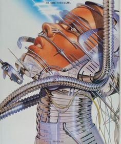 Artwork of Hajime Sorayama Conception Album, Futurism Art, New Retro Wave, Arte Robot, Cyberpunk Art, Doja Cat, Retro Aesthetic, Retro Art, Sci Fi Art