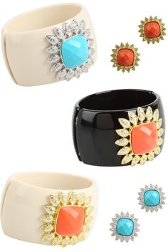 I want to be Diana Vreeland, one on each wrist! Which one, maybe the ivory with coral?