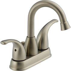 Peerless�Transitional Brushed Nickel 2-Handle 4-in Centerset WaterSense Bathroom Sink Faucet (Drain Included)  Lowes