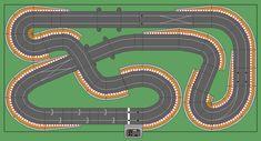 New Digital Track Designs - Page 2 - Tracks & Scenery Ho Slot Cars, Slot Car Racing, Slot Car Tracks, Race Tracks, Scalextric Digital, Scalextric Track, Karting, Scenery, Layout