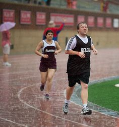 Rain at a Special Olympics track meet? No problem!