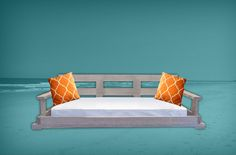 Island Porch Swing Bed $1895 Distressed Outdoor Sofa, Outdoor Furniture, Outdoor Decor, Porch Swing, Swing Beds, Pawleys Island, Daybed, Love Seat, Beach House