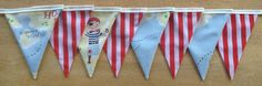 BACK IN STOCK - Treasure Island Pirate Fabric Bunting by MollyFelicityDesigns, £15.00