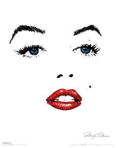 Glitter Marilyn Kunstdruck
