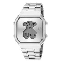 Reloj D-Bear SQ plateado de acero - Tous