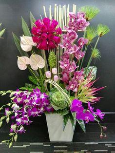 Silk Flowers Arrangements Tips Contemporary Flower Arrangements, Tropical Flower Arrangements, Beautiful Flower Arrangements, Unique Flowers, Exotic Flowers, Amazing Flowers, Silk Flowers, Tropical Flowers, Flowers Garden