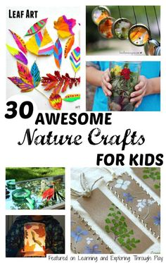 Nature Crafts for Kids - Learning and Exploring Through Play  Nature activities for kids Nature hunts Nature activities  Outdoor fun with kids  Exploring Nature with kids Fun with kids