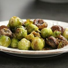 Praline Chestnuts and Sprouts Holiday Side Dishes, Thanksgiving Side Dishes, Thanksgiving Recipes, Holiday Recipes, Thanksgiving 2016, Holiday Meals, Christmas Recipes, Fall Recipes, Dinner Recipes