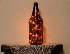 Your place to buy and sell all things handmade Beer Bottle Lights, Duck Bathroom, Buck Deer, Rustic Bathroom Decor, Empty Bottles, Accent Lighting, Mallard, Rustic Feel, Beautiful Lights