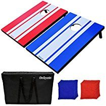 GoSports Classic Cornhole Set Includes 8 Bags, Carry Case and Rules The GoSports Classic CornHole Set is the best 'bang for your buck' cornhole set available. The boards are available in 2 sizes: the 'tailgate size' 3' x 2' boards or the regulation...