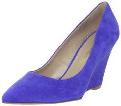 Pour La Victoire Women's Mai Wedge  Cobalt Blue Suede  9 M US ~ Details ->> http://amzn.to/KjTYBH