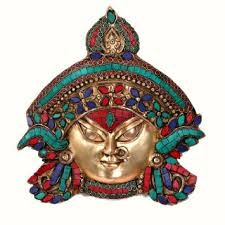 "Buy Decorative Masks Online India 15"" Himalayan Buddha Mask Tibet Nepal Hand Made Turquoise Buddha"