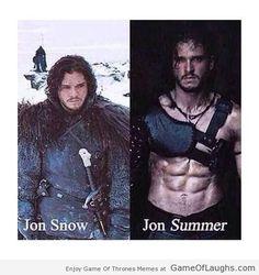 Jon Snow and Jon Summer - Game Of Thrones Memes