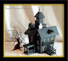 Cricut Haunted House 3-D  I have this cartridge but looks complicated to make the house!