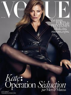 Vogue Paris March 2015 issue features Kate Moss, Lara Stone and Daria Werbowy photographed by Mert Alas & Marcus Piggott. The Vogue Paris March 2015 collec Vogue Covers, Vogue Magazine Covers, Fashion Magazine Cover, Fashion Cover, Daria Werbowy, Vogue Paris, Vogue Uk, Lara Stone, Sharon Stone