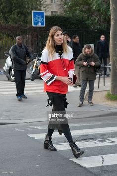 MyTheresa.com Buying director and Harper's Bazaar Germany Style Editor Veronika Heilbrunner on day 2 of Paris Haute Couture Fashion Week Spring/Summer 2016, on January 25, 2015 in Paris, France.
