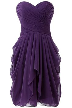 HONGFUYU Women's Ruched Evening Party Bridesmaid Dress Short Prom Dresses - bought it in purple! Only £26!