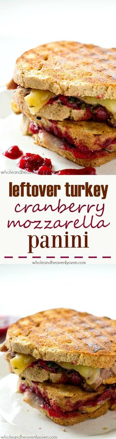 Use up those Thanksgiving leftovers the easy way with this ultimate leftover turkey cranberry mozzarella panini sandwich.---Lunch is served! Turkey Panini, Turkey Sandwiches, Cranberry Cheese, Thanksgiving Leftovers, Leftover Turkey, Mozzarella, Favorite Recipes, Lunch, Heavenly