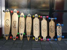 Modelos de longboard.