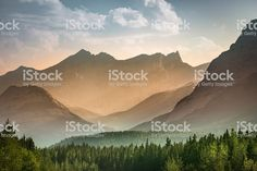 Alberta wilderness near Banff Lizenzfreies stock-foto Banff National Park, National Parks, Alberta Canada, Wilderness, Mists, Stock Photos, Mountains, Travel, Image