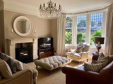 Living Room Grey, Formal Living Rooms, Home Living Room, Living Room Designs, Living Room Decor, Fireplace Built Ins, Fireplace Ideas, Pinterest Home, Villa