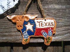 Texas Bluebonnet Longhorn Decor / Texas by TexasAngelGifts on Etsy, $12.00