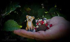 Little Gardener and Fox Handmade air-dry clay doll, OOAK by Romantic Wonders Clay Dolls, Art Dolls, Air Dry Clay, Dinosaur Stuffed Animal, Fox, Teddy Bear, Romantic, Handmade, Animals