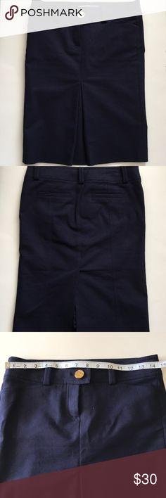 marciano pencil skirt size 2 dark navy blue in good condition,  back pockets are not real pockets Marciano Skirts Pencil