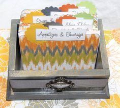 RECIPE BOX Recipe Dividers Orange and Gray Modern by peachykeenday