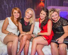 Pantyhose girls in Polish club.