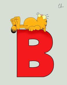 Garfield alphabet - B
