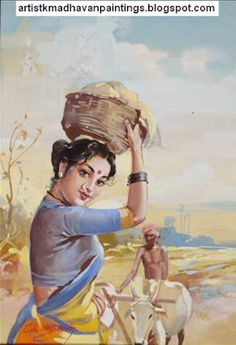 Oviyar K.MADHAVAN Oviyangal - Artist K.Madhavan Paintings - Amazing Paintings - One of the Famous Painters,Fine Artists, Illustrators,Banner Artists in India Indian Women Painting, Indian Art Paintings, Amazing Paintings, Indian Artist, Portrait Paintings, Saree Painting Designs, Indian Art Gallery, Environment Painting, Art Drawings For Kids