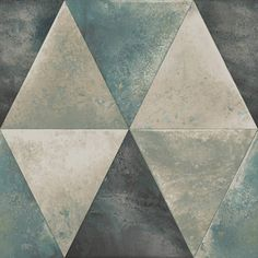 This Caden Metallic Geometric Wallpaper features a large symmetrical triangle design in various shades of silver with a distressed look and metallic finish Vinyl Wallpaper, Teal Wallpaper, Paper Wallpaper, Triangle Design, Triangle Pattern, Geometric Wallpaper Silver, Geometric Art, Bedroom Wallpaper Neutral, Contemporary Wallpaper