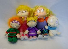 Lot of Used Nickelodeon Rugrats plush toys dolls Angelica Chuckie Tommy C