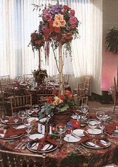 Topiary Centerpieces Tall Wedding