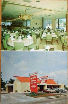 1950-Chrome-Postcard-Mel-O-Dee-Restaurant-Sarasota-Florida-FL