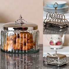Victorian looks are the hottest trends and we have used them in our intricately designed storage jars. Made in brass with lustrous nickel plating and clear glass, it can be used for storing knick-knacks and at the same time, serve as an accent piece. #SHOPNOW at www.elvy.com