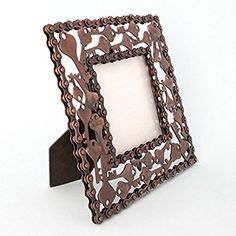 Amazon.com - Photo Frame - Recycled Keys - Hand Crafted Frame by Simply Natural Bliss - 4x4 in - Unique Picture Frame for Horizontal or Vertical Pictures - Great for Kids and Families - Recycled Materials -