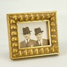 Tiny Narrow Gold Boule Photo Picture Frame by mackenzieframes, $15.00